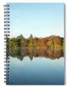Autumn Reflections At Belmont Lake Spiral Notebook