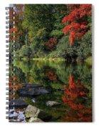 Autumn River Landscape Spiral Notebook