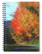 Autumn Roadside Spiral Notebook