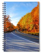 Autumn Scene With Road In Forest 2 Spiral Notebook