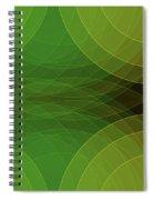 Autumn Semi Circle Background Horizontal Spiral Notebook