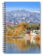 Autumn Snow At The Lake Spiral Notebook
