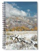 Autumn Snowfall In Aspen Spiral Notebook