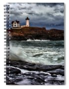 Autumn Storm At Cape Neddick Spiral Notebook