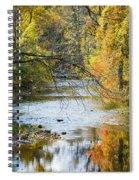 Autumn Stream Reflections Spiral Notebook
