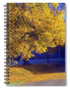 Autumn Sunrise In The Country Spiral Notebook