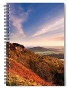 Autumn Sunset At Sutton Bank Spiral Notebook