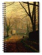 Autumn Sunshine Stapleton Parknear Pontefract  Spiral Notebook