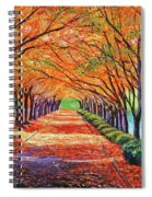 Autumn Tree Lane Spiral Notebook