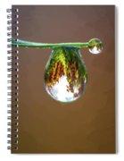 Autumn Vineyard In A Drop Of Due Spiral Notebook