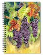 Autumn Vineyard In Its Glory - Batik Style Spiral Notebook