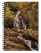 Autumn Waterfall In The Great Smoky Mountains Spiral Notebook
