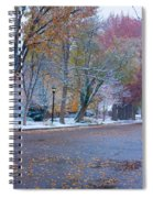 Autumn Winter Street Light Color Spiral Notebook