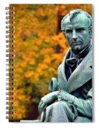Autumn With Mr. Cooper Spiral Notebook