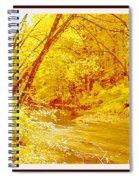 Autumn Woodland Stream Pennsylvania Digital Art Spiral Notebook