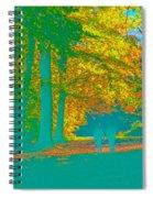 Autumn Woodland Walk Turquoise Spiral Notebook