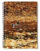Autumns Mallards Spiral Notebook