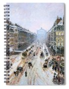Avenue De L'opera - Effect Of Snow Spiral Notebook