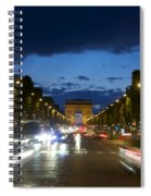 Avenue Des Champs Elysees. Paris Spiral Notebook