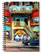 Avenue Du Parc Cafes Spiral Notebook
