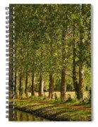 Avenue Of Trees On The Kennet And Avon Canal Spiral Notebook