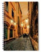 Avignon Alley At Sunset Spiral Notebook