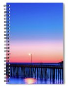 Avila Beach Pier At Sunset Spiral Notebook