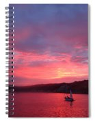 Avila Beach Sunset Spiral Notebook