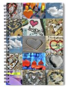 Awesome Hearts - Collage Spiral Notebook