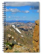 Awesome View From The Mount Massive Summit Spiral Notebook