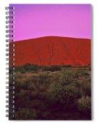 Ayres Rock Spiral Notebook