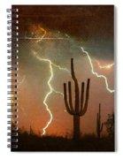 Az Saguaro Lightning Storm Spiral Notebook