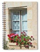 Azay Le Rideau Bridge, Window, Lace Spiral Notebook