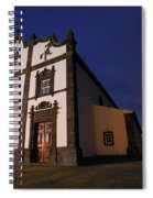 Azorean Church At Night Spiral Notebook