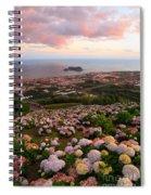 Azorean Town At Sunset Spiral Notebook