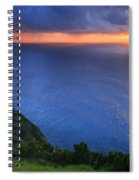 Azores Islands Sunset Spiral Notebook