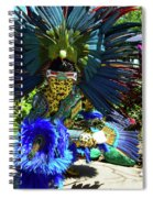 Aztec Costumed Dancer Spiral Notebook