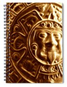 Aztec Gold Photograph Spiral Notebook