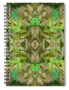 Aztec Kaleidoscope - Pattern 009 - Dark Olive Spiral Notebook
