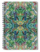 Aztec Kaleidoscope - Pattern 018 - Earth Spiral Notebook