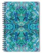 Aztec Kaleidoscope - Pattern 018 - Ocean Spiral Notebook