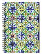 Azulejos Magic Pattern - 11 Spiral Notebook
