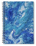 Azure Transfusions Of Ocean Waves Fragment  Spiral Notebook