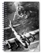 B-17 Bomber Over Germany  Spiral Notebook