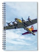 B-17g Flying Fortress In Flight  Spiral Notebook
