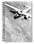 B-25 Bomber Over Germany Spiral Notebook
