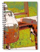 B-25 Red B Spiral Notebook