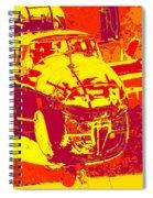 B-25 Red Yellow Spiral Notebook