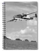 B-25 Warbird Returns - Black And White Spiral Notebook