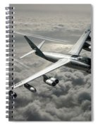 B-47e Stratojet With Contrails Spiral Notebook